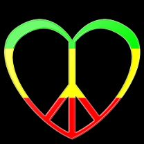Coeur peace and love