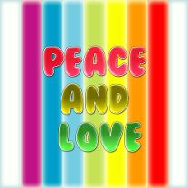 Peace and love color