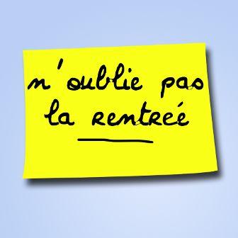 Post it rentrée