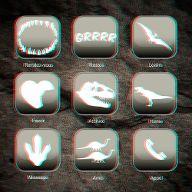 Faux menu dinosaure 3D