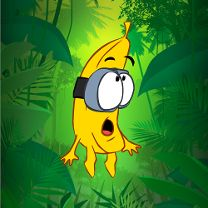 Banana surprised green